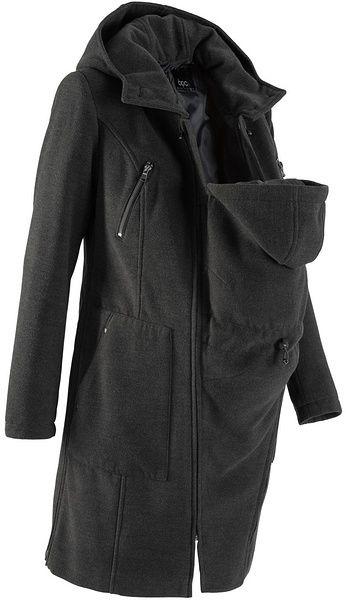 Kismama kabát baba betéttel (hátoldalra és előre