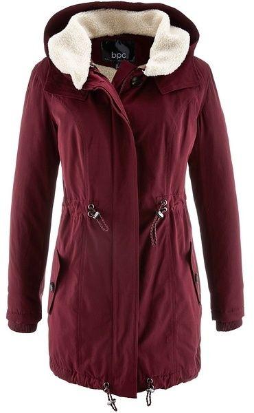 bpc bonprix collection Hosszú téli kabát teddy gallérral bonprix ... b29e9a6d0a