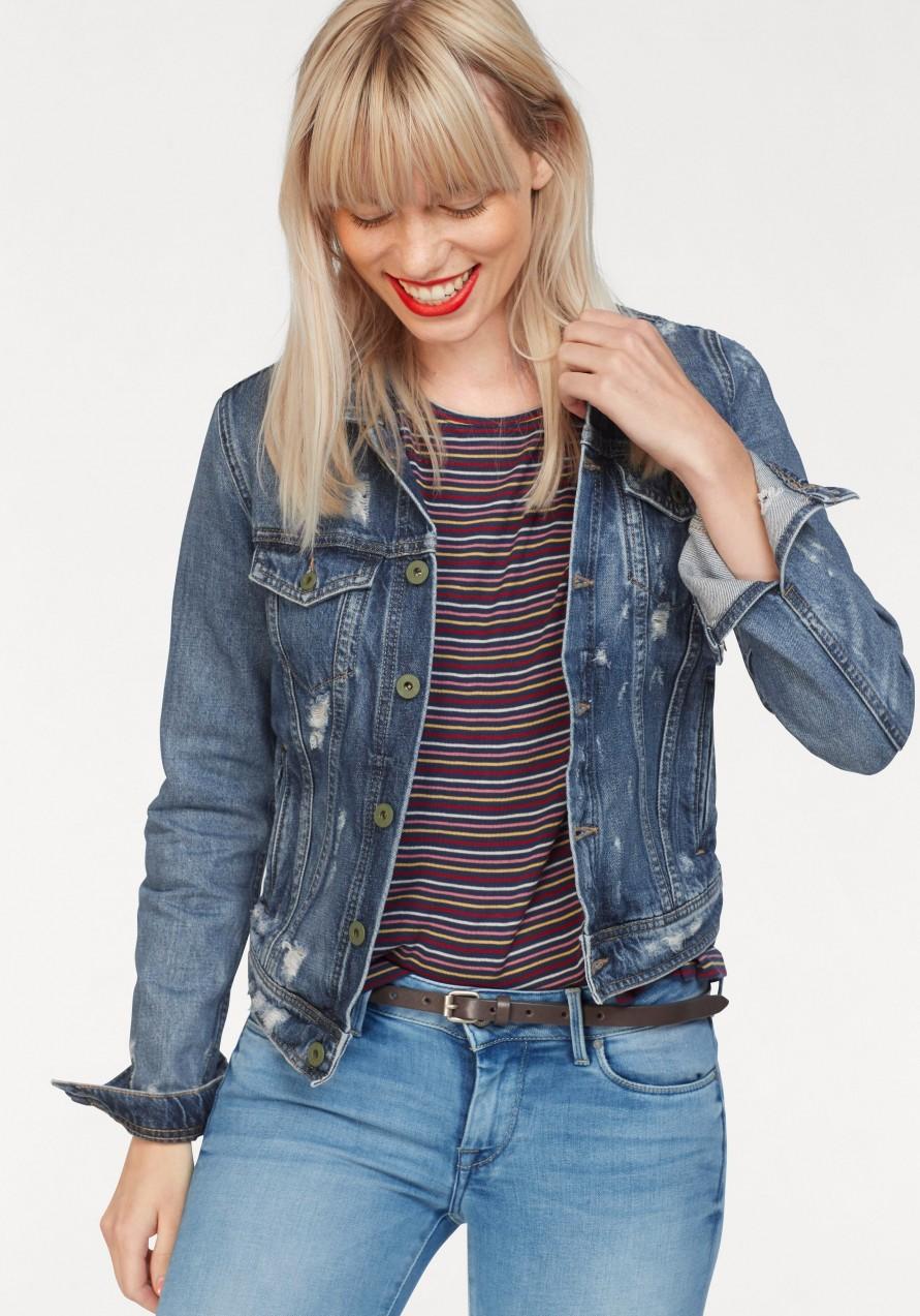 Pepe Jeans farmerdzseki koptatott hatással »CORE JACKET« Pepe jeans  mid-used - normál a879b2515c