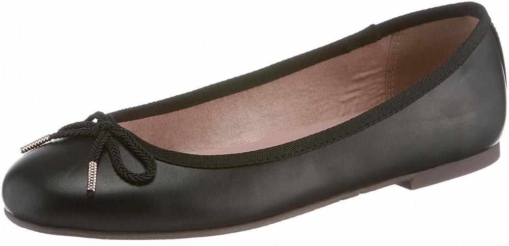Tamaris műbőr balerina cipő klasszikus stílusban Tamaris fekete -  EURO-méretek 38 d1fc07f095