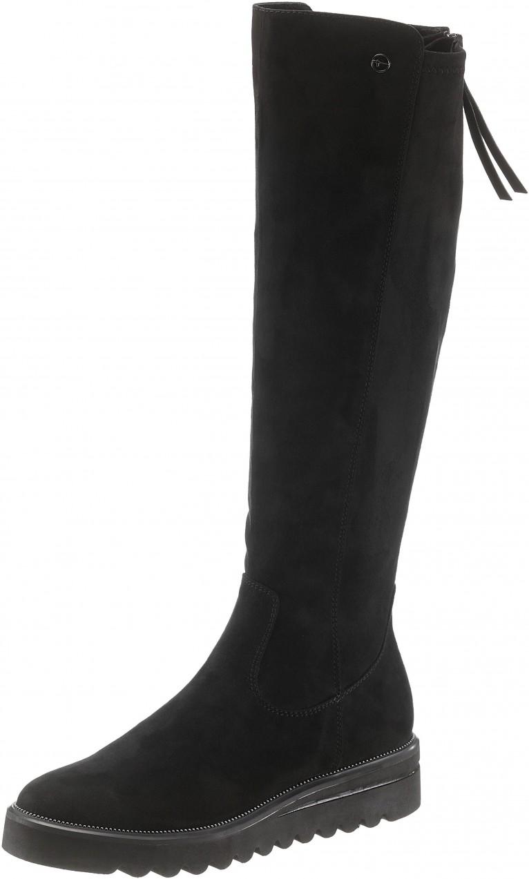 Tamaris csizma »Elvira« Tamaris fekete - EURO-méretek - állítható szárbőség  39. További Magasszárú csizmák 1df73ffcde