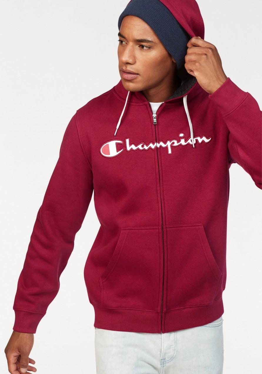 7b8923706c Champion kapucnis pulóver »HOODED FULL ZIP SWEATSHIRT« Champion fekete -  normál méret XL (