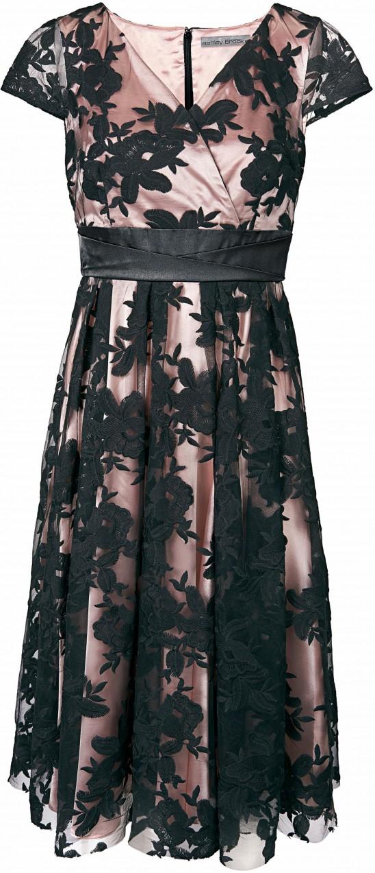 d9c4ae907d heine TIMELESS hímzett ruha áthajtós hatással heine fekete/rózsaszín 46