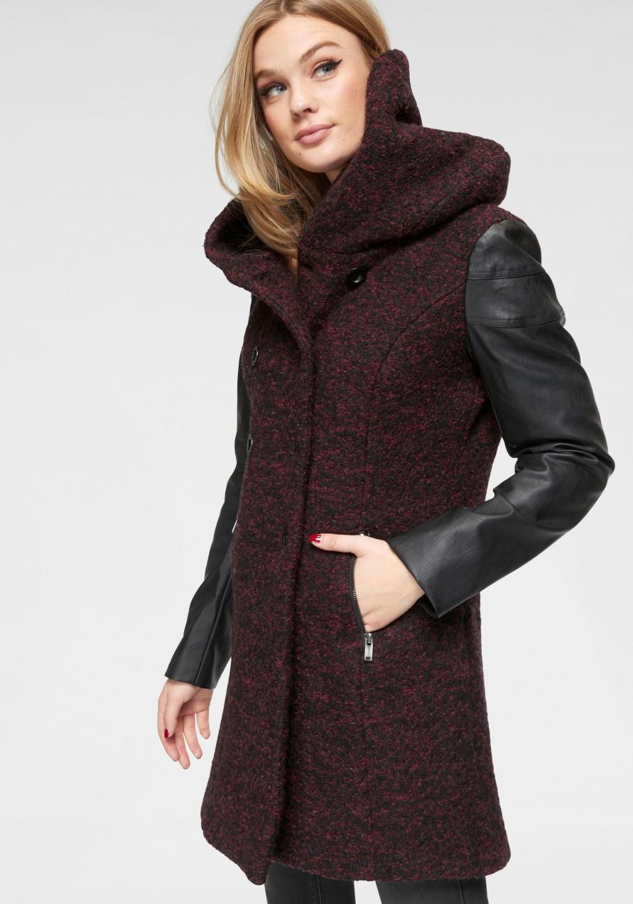6ced7dbd89 Only Only hosszú kabát »LISA« Only bordó-melírozott - normál méret ...