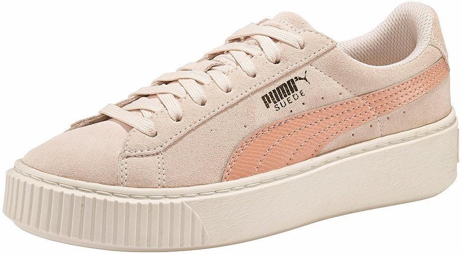 3a2a2779ab4e PUMA platform sneaker cipő »Suede Platform SNK« PUMA bézs-rózsaszín - EURO-