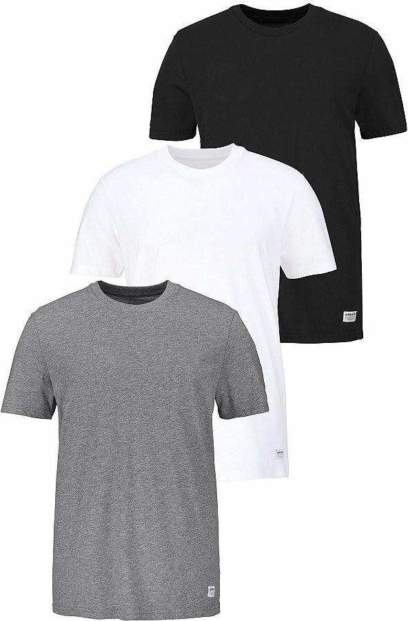 d76db555dd adidas Originals póló »3PCK TEES« adidas Originals fekete+szürke+fehér -  normál