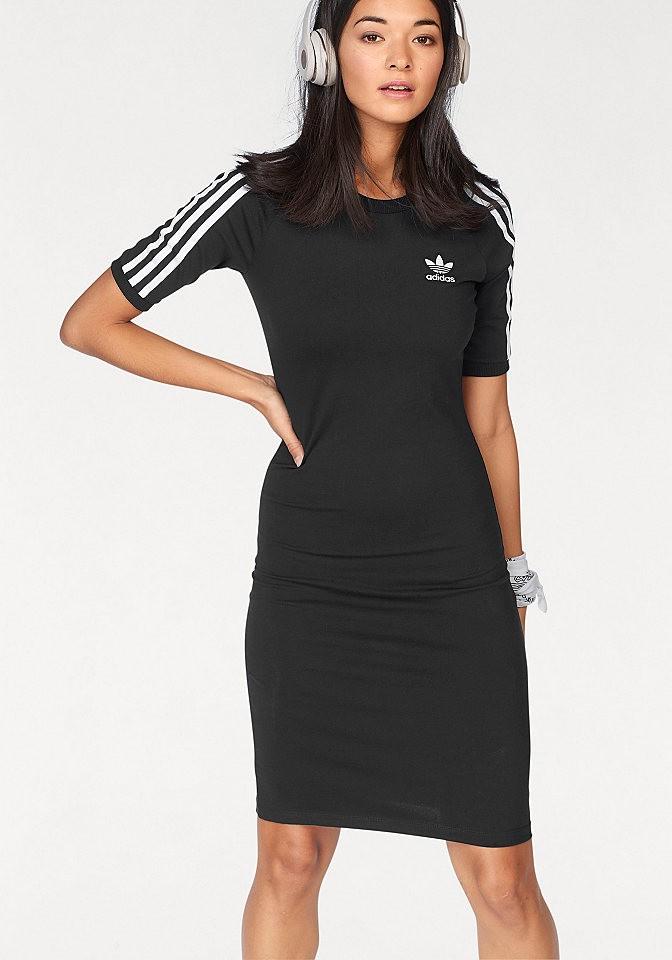 adidas Originals dzsörzé ruha logós hímzéssel elasztikus anyagból »3  STRIPES DRESS« adidas Originals áfonya 2e64c16db3