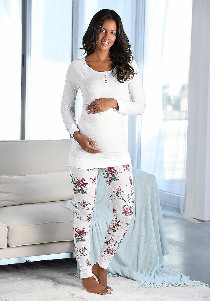 72ba5f41d9 Marie Claire kismama pizsama gomboláspánttal a kivágásnál Buffalo bézs  melírozott 44/46