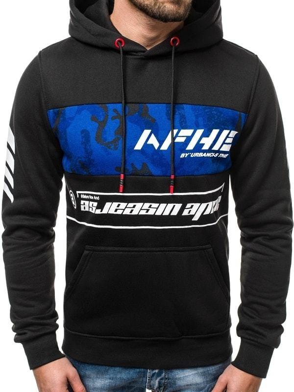 J. Style Fekete kapucnis pulóver OZONEE JS DD579 - Styledit.hu 5eecdd73fa