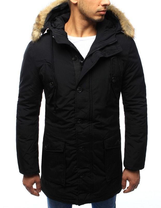 Dstreet Divatos fekete téli parka kabát - Styledit.hu 6e898206fd