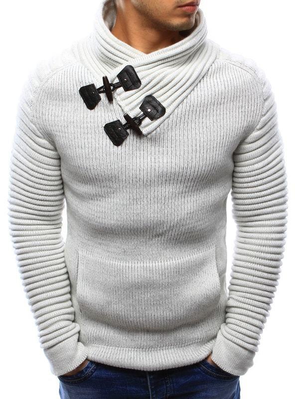 Dstreet Elegáns fehér kötött pulóver - Styledit.hu 2e3f7e6520