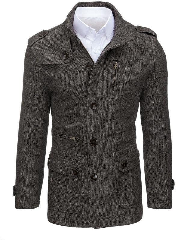 Dstreet Elegáns szürkés barna szövet kabát - Styledit.hu c050263a3f