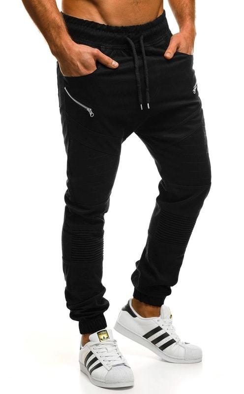Fekete ülepes melegítő nadrág ATHLETIC 0951 - Styledit.hu 01f449e6d6
