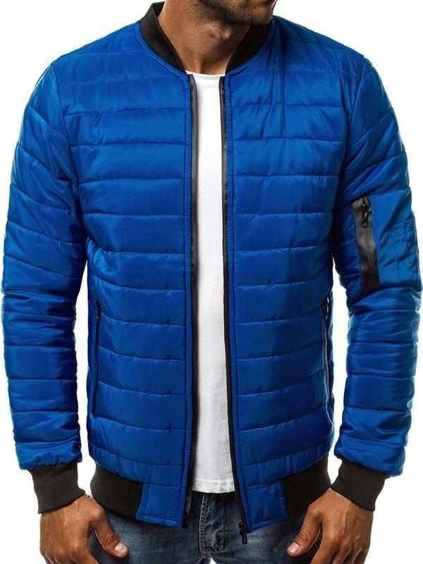 Kék steppelt dzseki OZONEE JS RZ06. További Átmeneti kabátok 6efcc21b04