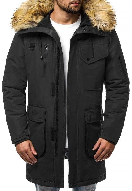 Téli fekete parka kabát OZONEE JS HS201813 - Styledit.hu 8eaa3c3431