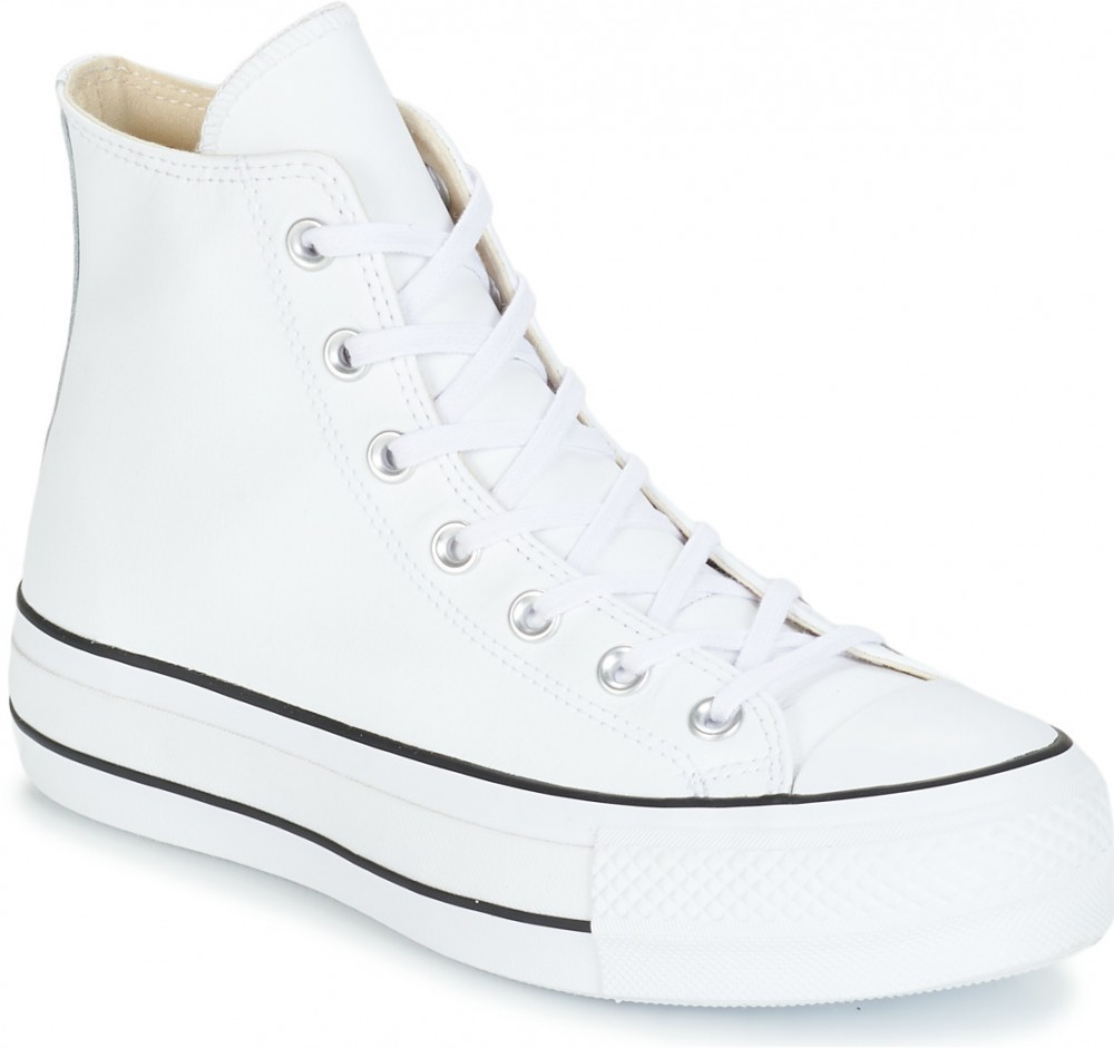 Magas szárú edzőcipők Converse CHUCK TAYLOR ALL STAR LIFT CLEAN LEATHER HI