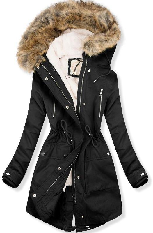 Fekete színű parka kabát d34bbbb077