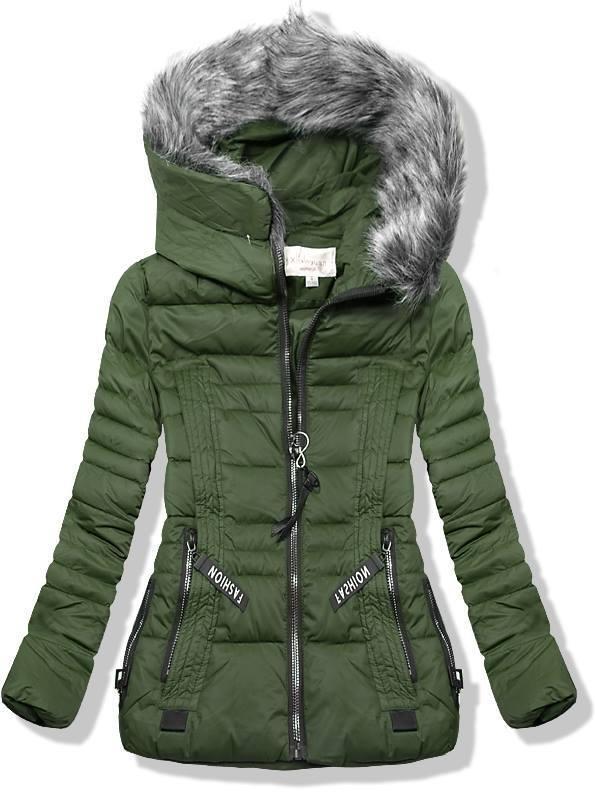 Zöld színű rövid téli kabát - Styledit.hu c19dcb5d5b
