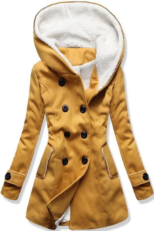 Mustársárga színű téli kabát - Styledit.hu 85e6b296b9