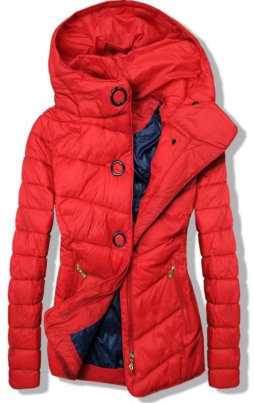 2c222adfa1 Piros színű könnyű tavaszi steppelt dzseki - Styledit.hu