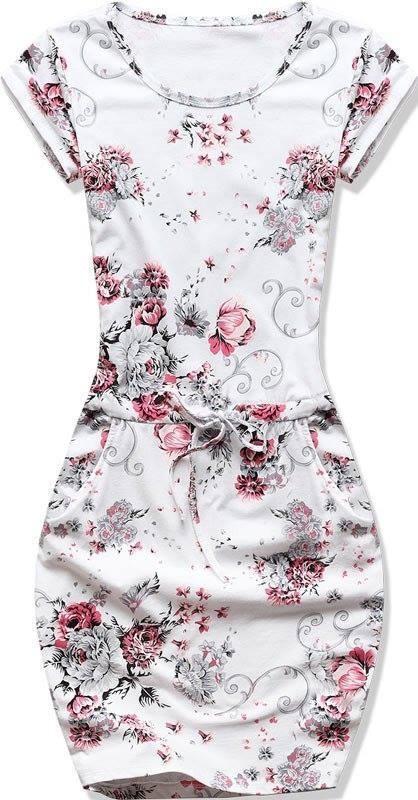 431e3e0c2e Fehér és piros színű, rövid ujjú ruha - Styledit.hu