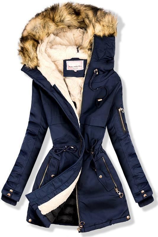 Sötétkék színű téli parka kabát - Styledit.hu 8657263e8d