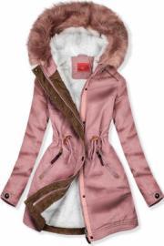 Rózsaszínű könnyű tavaszi parka kabát - Styledit.hu 47374ace39