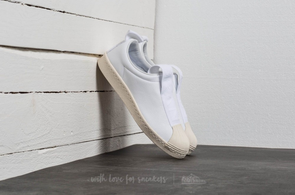adidas Superstar Brand With 3 Stripes Slip On Ftw White  Ftw White  Off  White b986b57642
