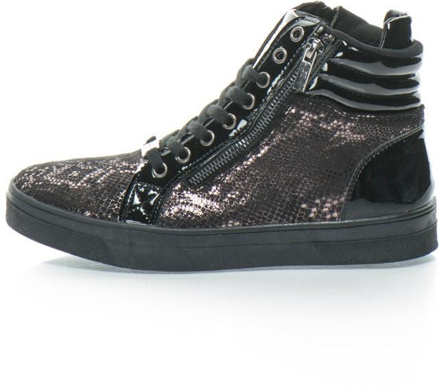 a6163ad8ef Laura Biagiotti Magas szárú sneakers cipő rejtett telitalppal ...