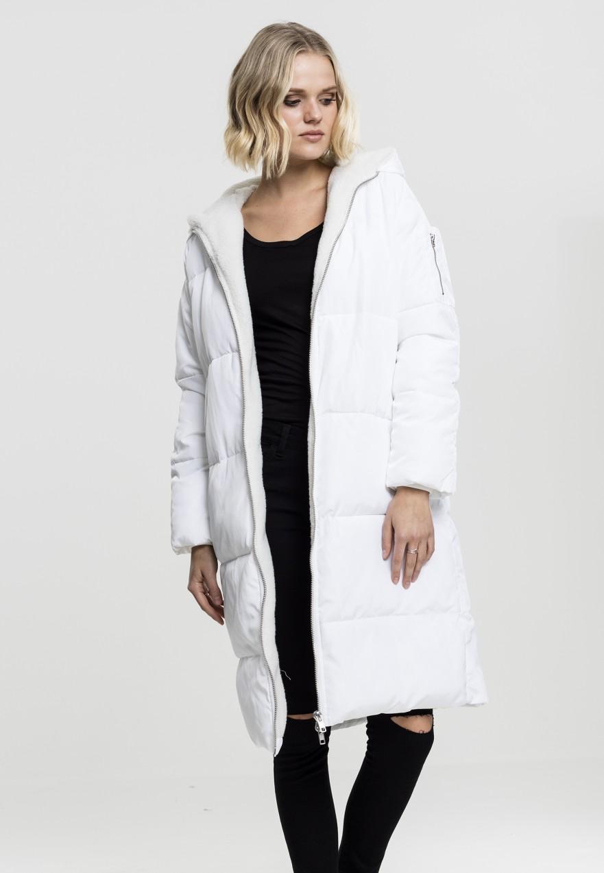 335ca2e963 Urban Classics Urban Classics Oversized női hosszú télikabát fehér ...