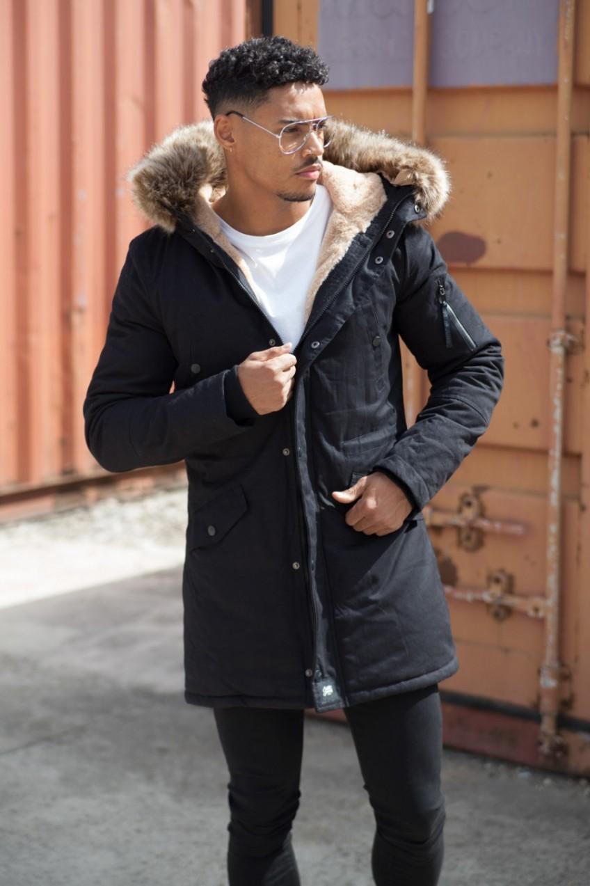Téli kabát szőrmés kapucnival | Starstyle.hu