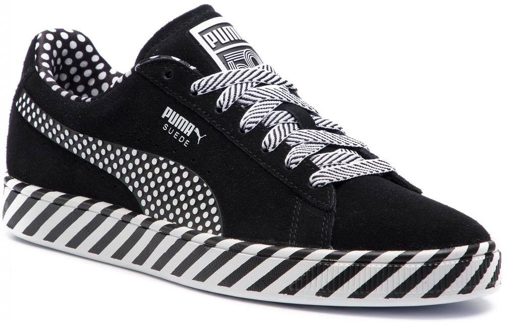 fd5c42f0b7a1 Sportcipő PUMA - Suede Classic Pop Culture 367776 02 Puma Black/Puma White