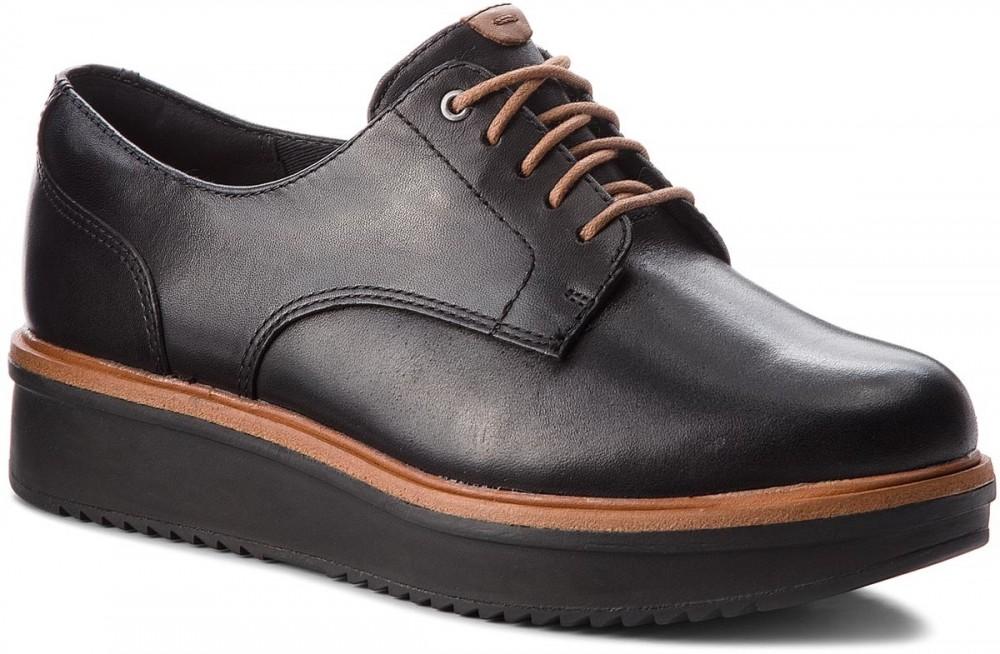 Oxford cipők CLARKS - Teadale Rhea 261284394 Black Leather. További Női cipő f0546432ab