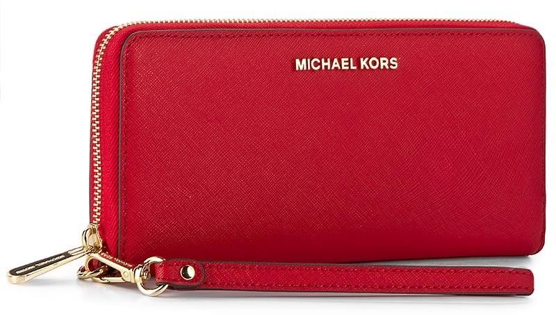 c2be0a84f1 Nagy női pénztárca MICHAEL KORS - Jet Set Travel 32S5GTVE9L Bright Red