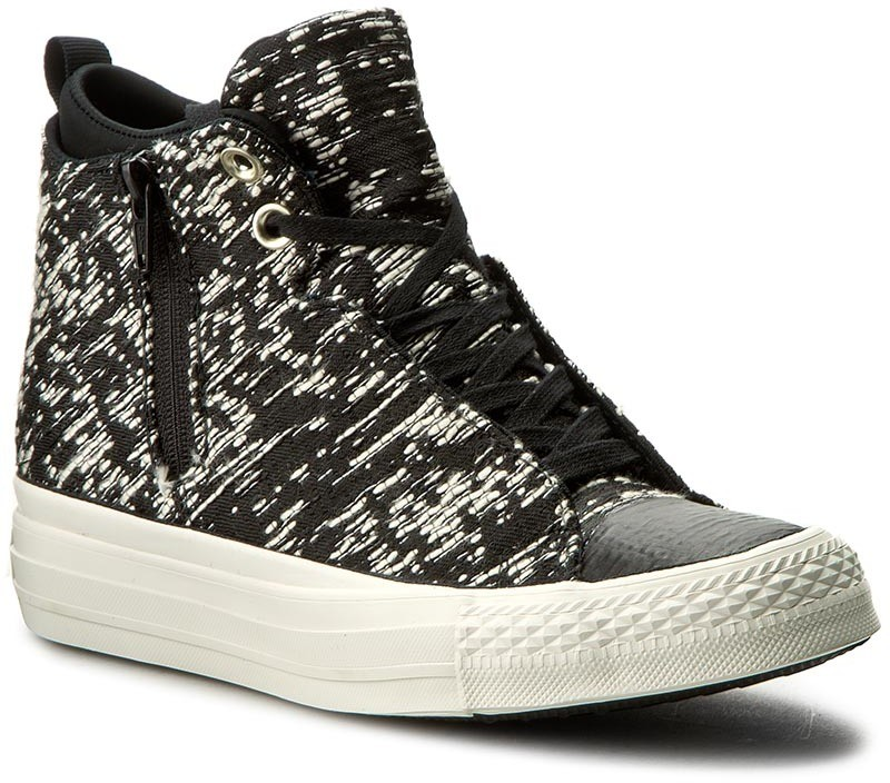 Tornacipő CONVERSE - Ctas Selene Winter Knit Mid 553355C Black/Light Gold/Gret