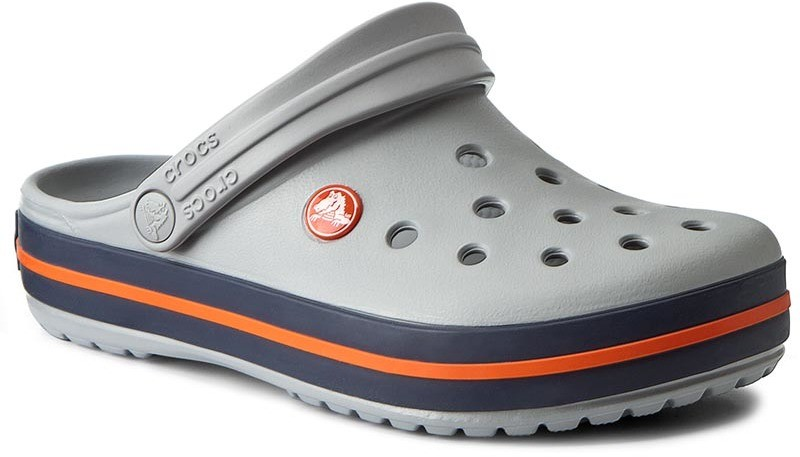 Crocs Papucs CROCS - Crocband 11016 Light Grey Navy - Styledit.hu ac9a2ad141