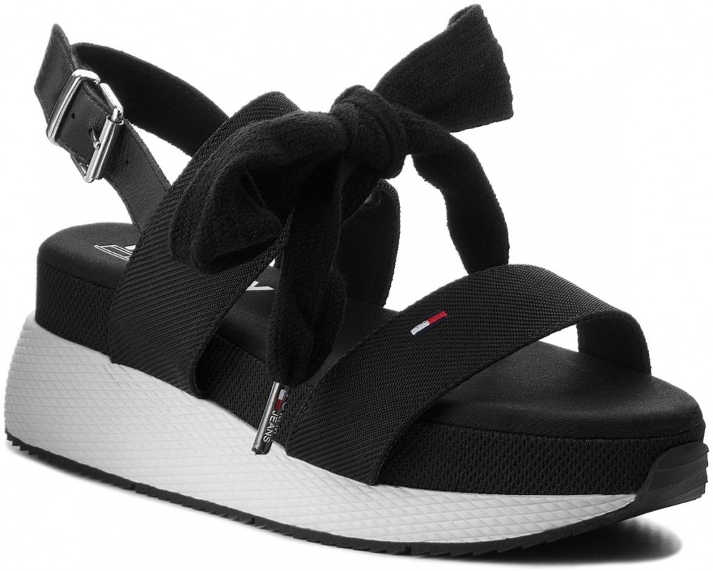 87401db178 Szandál TOMMY JEANS - Modern Hybrid Sandal Bow EN0EN00147 Black 990
