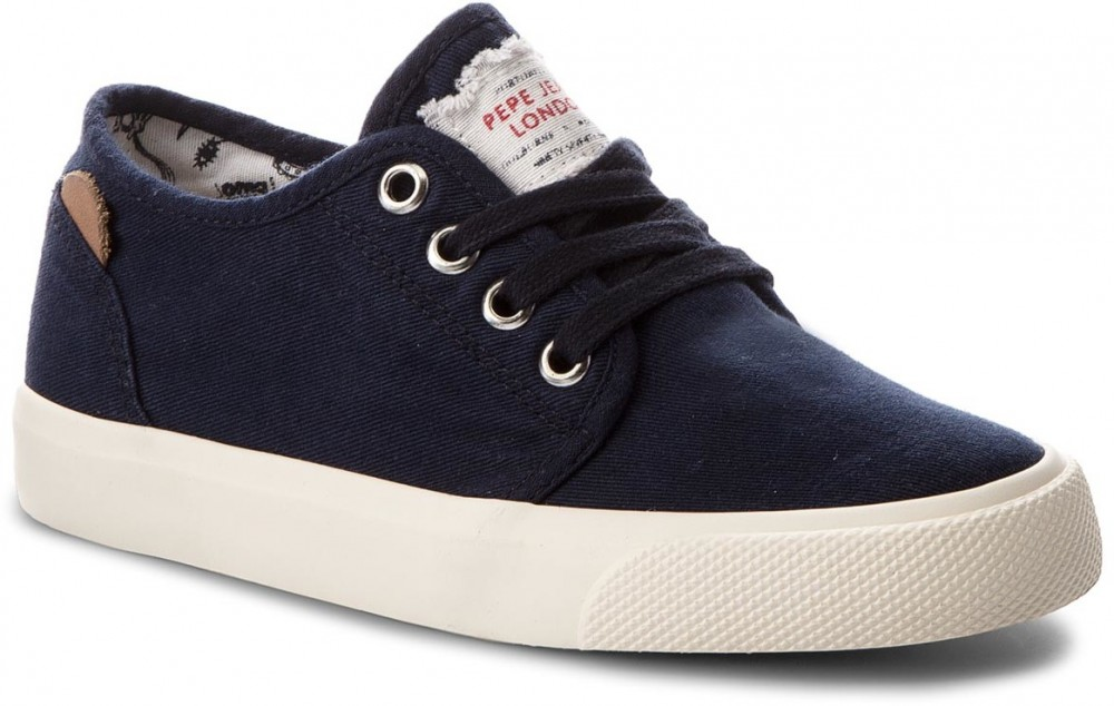 Teniszcipő PEPE JEANS - Traveler Washed PBS30354 Washed Navy 576