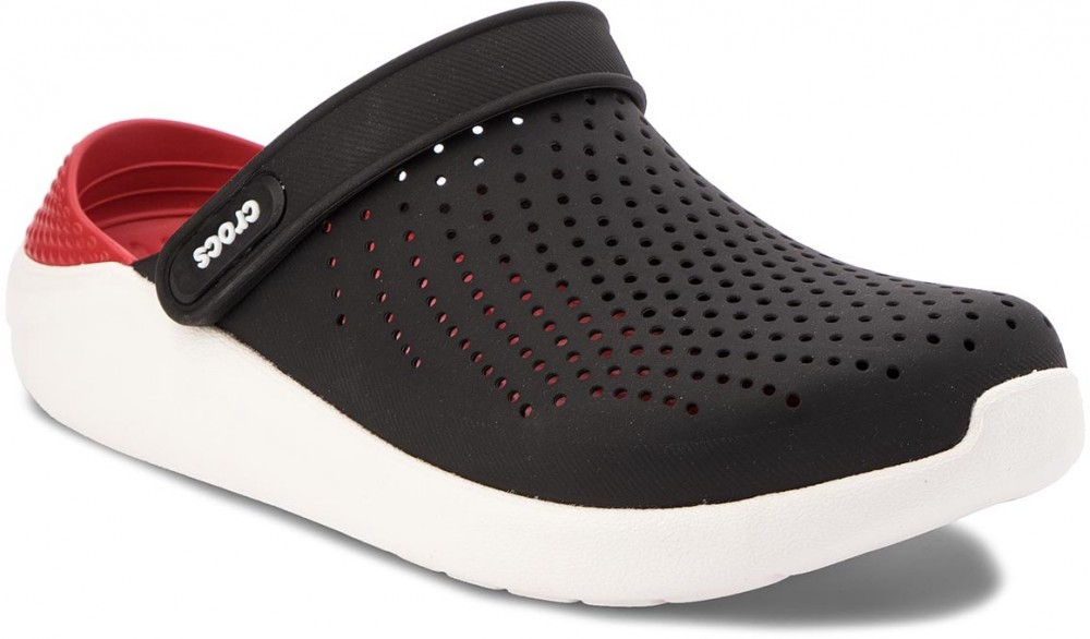 51d5bbadaa Crocs papucs crocs literide clog black white jpg 1000x586 Cross papucs