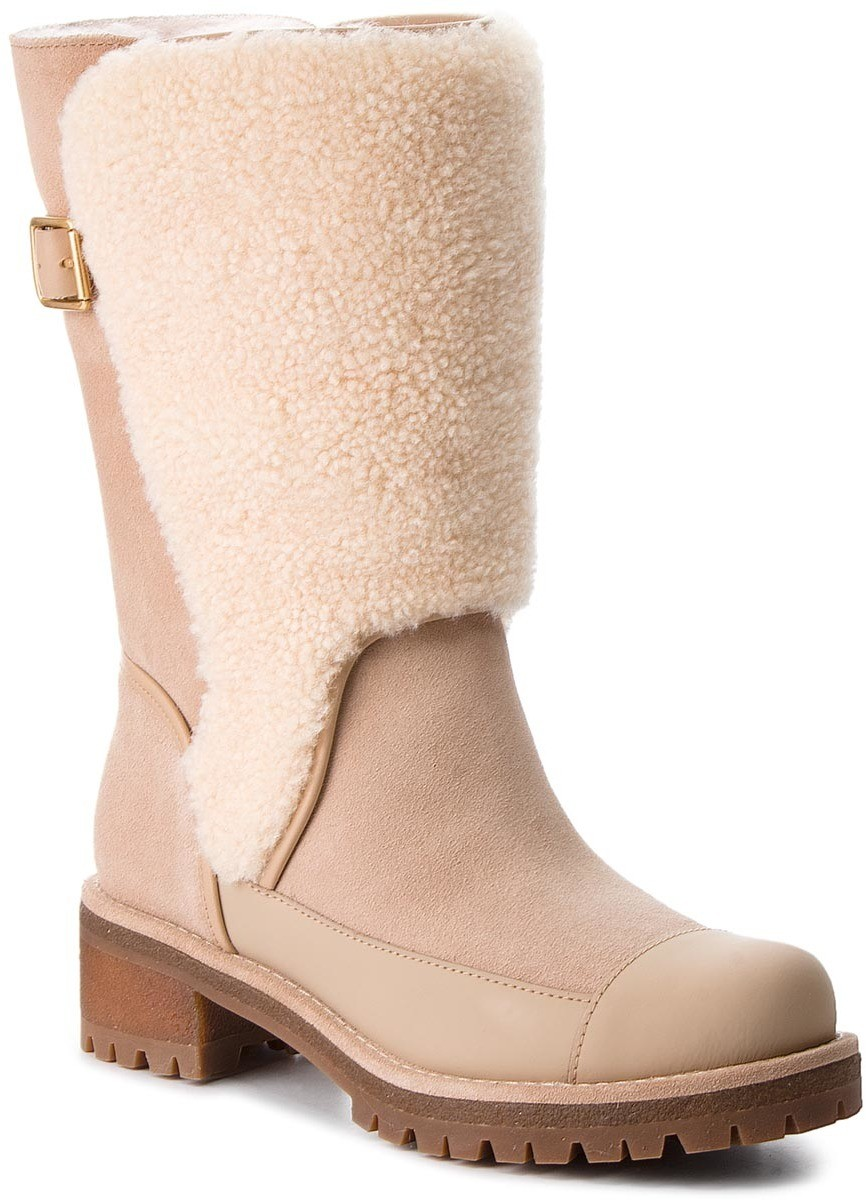 Csizmák TORY BURCH - Sloan Shearling Boot 49198 Perfect Sand/Natural 256