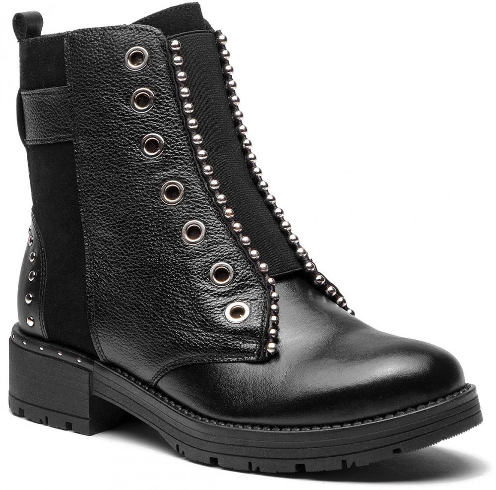 Magasított cipő MACIEJKA - 03771-21 00-3 Czarny Welur. További Bokacsizmák 5d22992c79