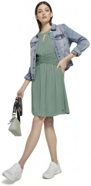 Green Women's Dress By Tom Tailor Denim galéria