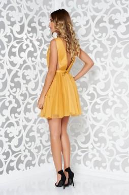 ... Mustársárga Ana Radu harang alakú alkalmi ruha övvel ellátva galéria 899cba8a0c