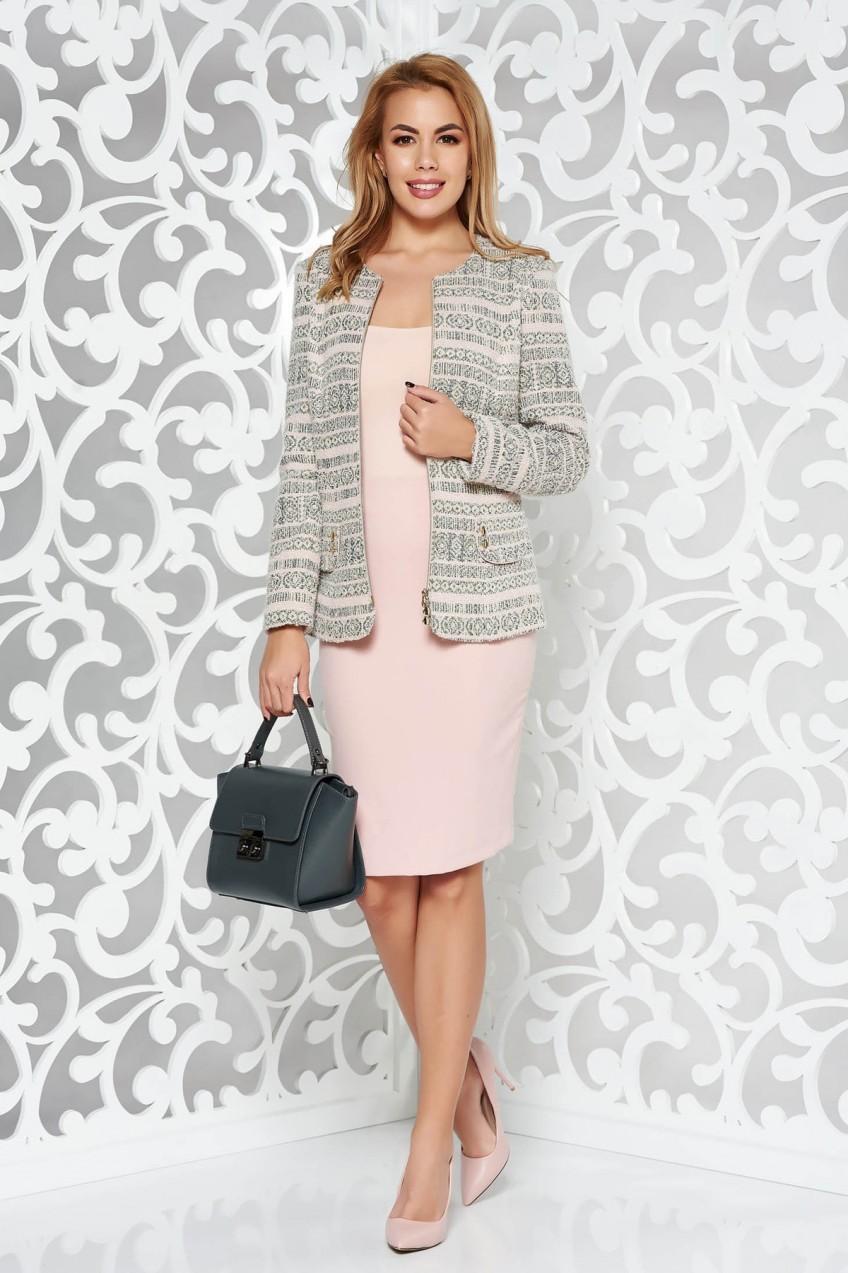1801c62d78 Rózsaszínű elegáns női kosztüm rugalmatlan szövet belső béléssel szoknyával