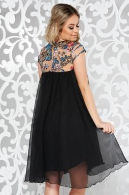 ... Fekete StarShinerS alkalmi ruha fátyol belső béléssel bő szabás  flitteres díszítés galéria ... 2dc08c947b