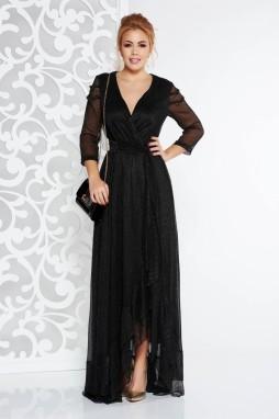 ... Fekete Artista alkalmi ruha fényes anyag lamé szál belső béléssel övvel  ellátva galéria ... 3901dd1852