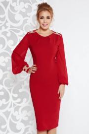 3de0b7ddbf LaDonna Piros LaDonna alkalmi szirén tipusú ruha enyhén rugalmas ...