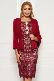 a9188a91f6 Vessmary Rózsaszínű elegáns női kosztüm rugalmatlan szövet belső ...